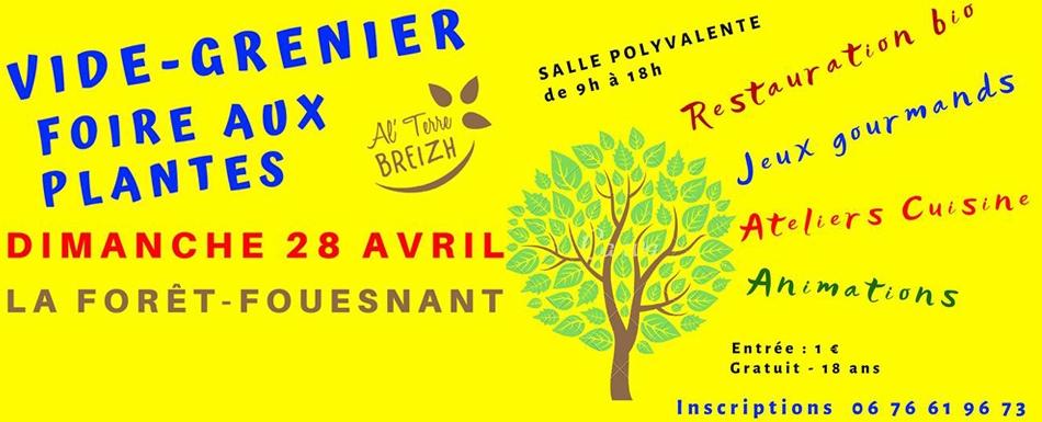 Vide-grenier et Foire aux plantes - 28 avril - La Forêt Fouesnant